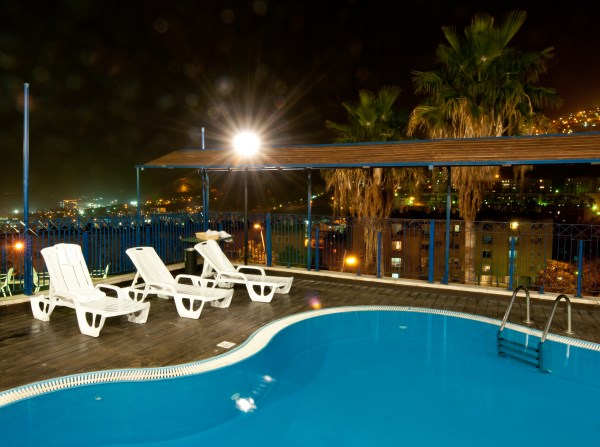 Prima Galil - Swimming pool at Night